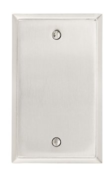 Blank Colonial Switch Plate - Brass Collection by Emtek