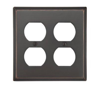 Double Duplex Colonial Switch Plate - Brass Collection by Emtek