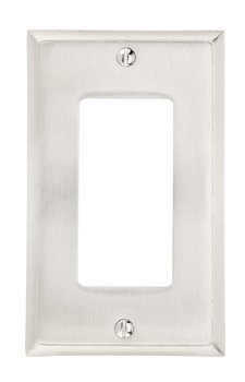 Single Gang Colonial Switch Plate - Brass Collection by Emtek