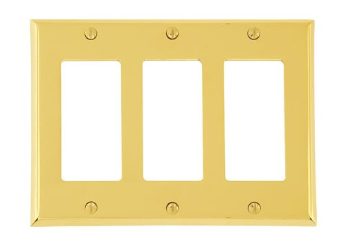 Triple Gang Colonial Switch Plate - Brass Collection by Emtek