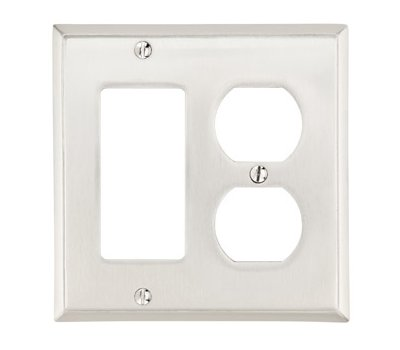 Single Toggle Single Gang Colonial Switch Plate - Brass Collection by Emtek