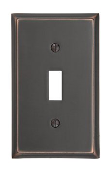 Single Toggle Colonial Switch Plate - Brass Collection by Emtek