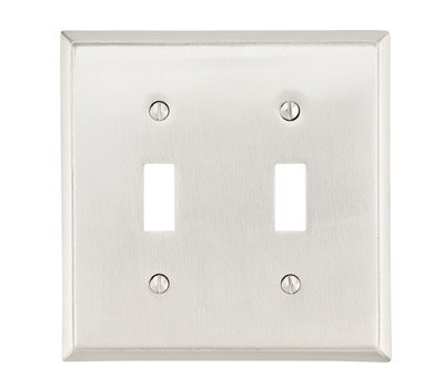 Double Toggle Colonial Switch Plate - Brass Collection by Emtek