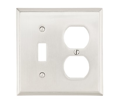 Single Toggle Single Duplex Colonial Switch Plate - Brass Collection by Emtek