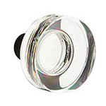 Modern Disc Knob for the Crystal Collection by Emtek