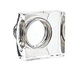 Modern Square Knob for the Crystal Collection by Emtek