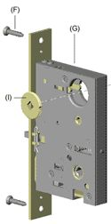 Mortise Lock Body - Parts Collection by Emtek