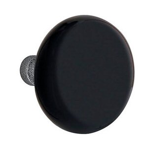 Black Madison Knob for the Wrought Steel Collection by Emtek